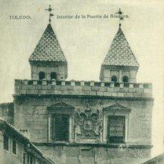 Postales: TOLEDO INTERIOR DE LA PUERTA DE BISAGRA. Lote 37127267