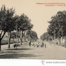 Postales: ALBACETE. PASEO DE LA FERIA. Lote 37236432