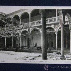 Postales: POSTAL FOTOGRÁFICA 42 TOLEDO HOSPITAL DE SANTA CRUZ PATIO CENTRAL ED FM MADRID. Lote 37363752
