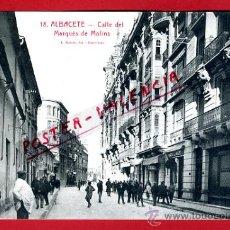 Cartoline: POSTAL ALBACETE , CALLE DEL MARQUES DE MOLINS , ORIGINAL, P77363. Lote 37553885