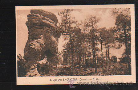 TARJ. POSTAL DE CUENCA - CIUDAD ENCANTADA. EL ARCO. 3. L.ROISIN (Postales - España - Castilla La Mancha Antigua (hasta 1939))