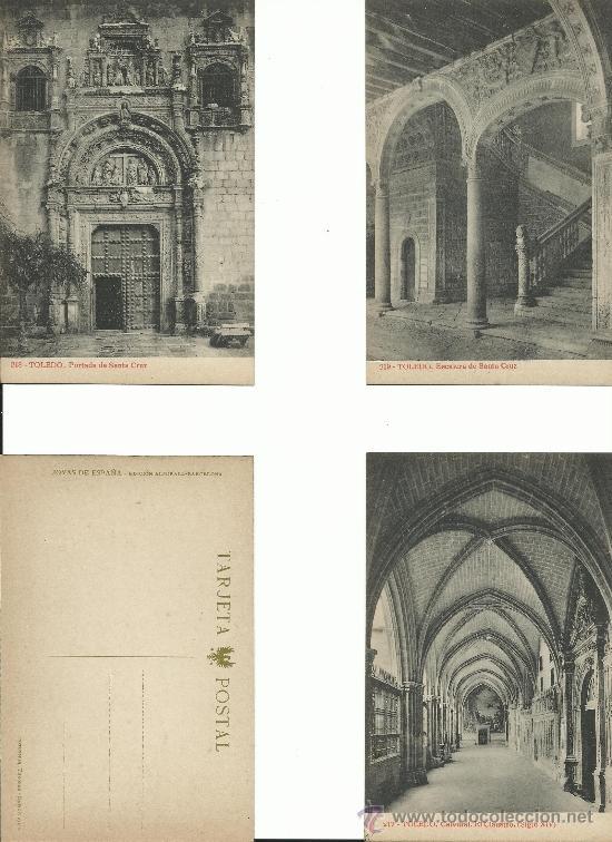 Postales: TOLEDO.-JOYAS DE ESPAÑA 1ª COLECCION .- SERIE 11.-OBRAS MONUMENTALES - Foto 2 - 38485978