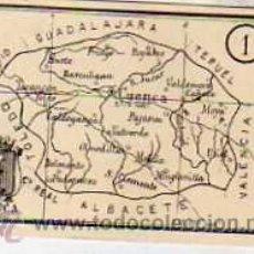 Postais: CROMO CON PLANO DE LA PROVINCIA DE CUENCA. 5 X 6 CM.. Lote 39074103