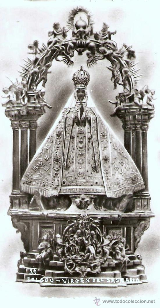 POSTAL RELIGIOSA , VIRGEN DEL SAGRADO , TOLEDO (Postales - España - Castilla La Mancha Antigua (hasta 1939))