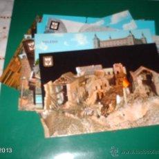 Postales: LOTE DE 12 POSTALES DE TOLEDO, AÑOS 60 Y 70. . Lote 97356988
