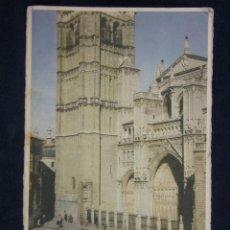 Postales: POSTAL FOTOGRÁFICA COLOR SIN CIRCULAR 112 LA CATEDRAL TOLEDO EDITORIAL MAYFE FERRAZ 28 MADRID. Lote 39642699