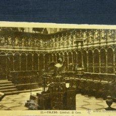 Postales: POSTAL 21 TOLEDO CATEDRAL EL CORO CIRCULADA 1950 ED HELIOTIPIA ARTÍSTICA ESPAÑOLA. Lote 39644814