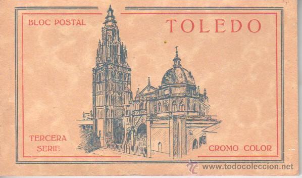 BLOC POSTAL DE TOLEDO - TERCRA SERIE CROMO COLOR PALOMEQUE MADRID - HELP.ARTISTICA ESPAÑOLA (Postales - España - Castilla La Mancha Antigua (hasta 1939))