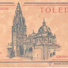 Postales: BLOC POSTAL DE TOLEDO - TERCRA SERIE CROMO COLOR PALOMEQUE MADRID - HELP.ARTISTICA ESPAÑOLA. Lote 39899920