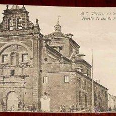 Postales: ANTIGUA POSTAL DE ALCAZAR DE SAN JUAN (CIUDAD REAL) IGLESIA DE LOS R.P. TRINITARIOS - CASA REYES - C. Lote 39548427