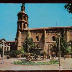 Postales: ANTIGUA FOTO POSTAL DE VALDEPEÑAS (CIUDAD REAL) PLAZA DE ESPAÑA, IGLESIA DE NUESTRA SEÑORA DE LA ASS. Lote 39608262