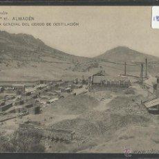 Postales: ALMADEN - VISTA GENERAL CERCO DE DESTILACION - SERIE 2 Nº10 - E.GALLEGO - (18954). Lote 41265893