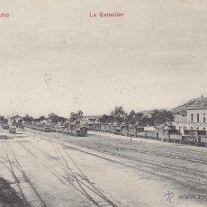Postales: RRR POSTAL AÑOS 10 DE LA ESTACION FERROCARRIL - FFCC - TREN - PUERTOLLANO - CIUDAD REAL. Lote 41498507