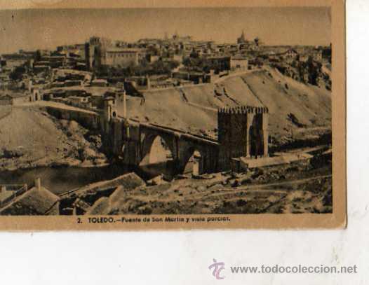 TOLEDO Nº 2 PUENTE DE SAN MARTÍN Y VISTA PARCIAL HELIOTIPIA ARTÍSTICA ESPAÑOLA SIN CIRCULAR (Postales - España - Castilla La Mancha Antigua (hasta 1939))
