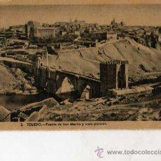 Postales: TOLEDO Nº 2 PUENTE DE SAN MARTÍN Y VISTA PARCIAL HELIOTIPIA ARTÍSTICA ESPAÑOLA SIN CIRCULAR . Lote 42659731