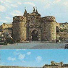 Postales: TOLEDO, PUERTA DE BISAGRA Y PUENTE DE ALCANTARA, EDITOR: JULIO DE LA CRUZ Nº 1584. Lote 42669109