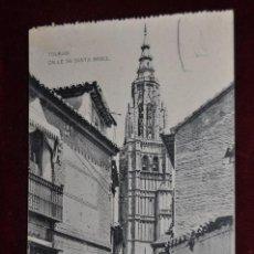 Postales: ANTIGUA POSTAL DE TOLEDO. CALLE DE SANTA ISABEL. HAUSER Y MENET. SIN CIRCULAR. Lote 42927057