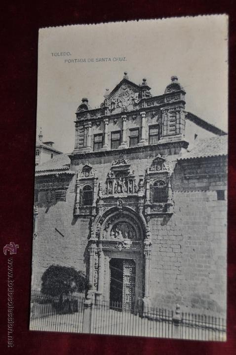 ANTIGUA POSTAL DE TOLEDO. PORTADA DE SANTA CRUZ. HAUSER Y MENET. SIN CIRCULAR (Postales - España - Castilla La Mancha Antigua (hasta 1939))