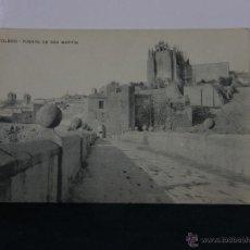 Postales: POSTAL FOTOGRÁFICA CIRCULADA TOLEDO PUENTE DE SAN MARTÍN SELLO ALFONSO XIII 10 CS DESTINO CARTAGENA . Lote 143182956