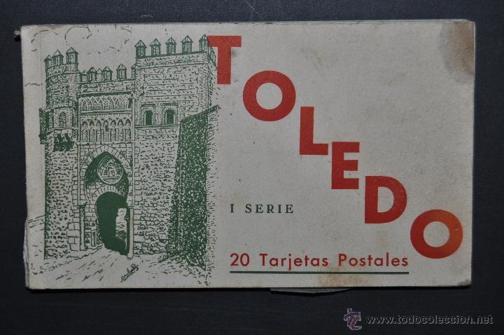 CARNET POSTAL DE TOLEDO. 1ª SERIE. DIFERENTES VISTAS. FOTPIA. HAUSER Y MENET. 20 TARJETAS (Postales - España - Castilla La Mancha Antigua (hasta 1939))