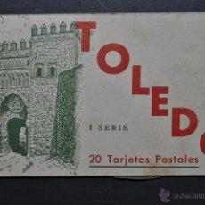 Postales: CARNET POSTAL DE TOLEDO. 1ª SERIE. DIFERENTES VISTAS. FOTPIA. HAUSER Y MENET. 20 TARJETAS. Lote 43741916