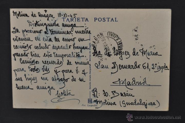 Postales: ANTIGUA POSTAL DE MOLINA DE ARAGÓN. GUADALAJARA. CALLE DE LAS CUATRO ESQUINAS. FOT. LEOPOLDO - Foto 2 - 44167975