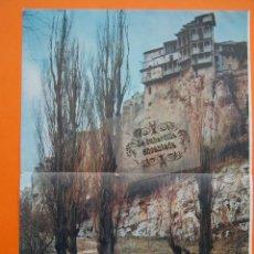 Postales: FOTO CASAS COLGADAS CUENCA 27 X 39 CM TRASERA - BOMBONES LIKORY ELGORRIAGA - CUTEX - 1959 . Lote 54279906