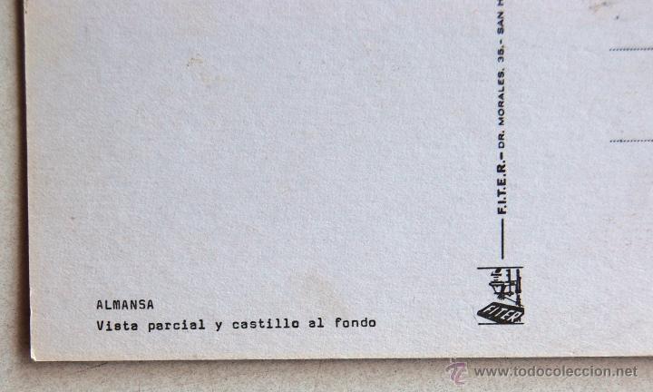 Postales: POSTAL DEL CASTILLO DE ALMANSA (ALBACETE). - Foto 3 - 44279786