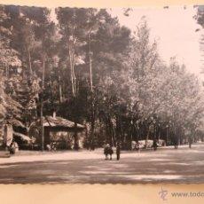 Postales: POSTAL DE ALBACETE, PASEO CENTRAL DEL PARQUE, TROQUELADA. Lote 44279954