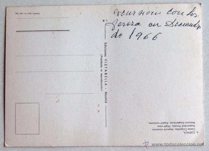 Postales: POSTAL DE LAS CASAS COLGADAS DE CUENCA. - Foto 2 - 44295481