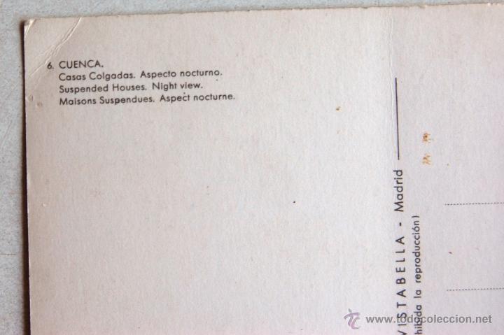 Postales: POSTAL DE LAS CASAS COLGADAS DE CUENCA. - Foto 3 - 44295481