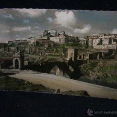Postales: POSTAL CIRCULADA COLOREADA 1959 114 TOLEDO PUENTE DE ALCÁNTARA Y VISTA PARCIAL ED GARCÍA . Lote 44696389