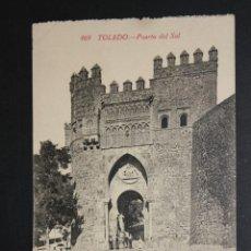 Postales: ANTIGUA POSTAL DE TOLEDO. PUERTA DEL SOL. FOTPIA. CASTAÑEIRA. SIN CIRCULAR. Lote 44963316