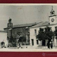 Postales: FOTOGRAFIA CASTELLAR DE SANTIAGO CIUDAD REAL IGLESIA Y AYUNTAMIENTO SIN FOTOGRAFO. Lote 45084932