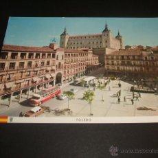 Postales: TOLEDO PLAZA DE ZOCODOVER Y ALCAZAR 1964. Lote 45666259