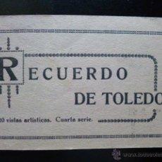 Postales: RECUERDO DE TOLEDO. 20 VISTAS ARTÍSTICAS. CUARTA SERIE.. Lote 45714632