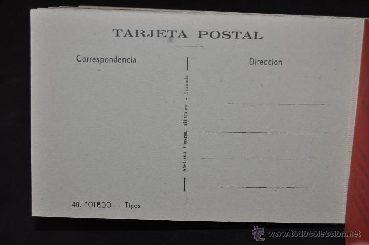 Postales: CARNET POSTAL RECUERDO DE TOLEDO. SERIE II. ED. ABELARDO LINARES. 20 TARJETAS - Foto 19 - 46306812