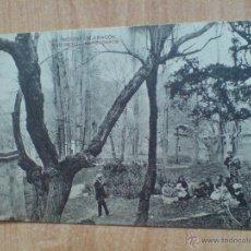 Postales: ANTIGUA POSTAL DE MOLINA DE ARAGON (GUADALAJARA) 1915. ESCRITA - GENTE EPOCA EN MERENDERO. Lote 46510223