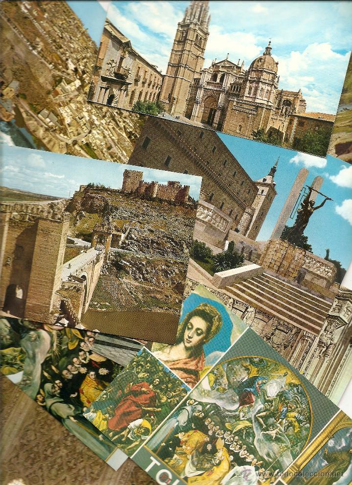 LOTE 9 POSTALES DE TOLEDO. VER LISTADO Y FOTOGRAFÍAS. (Postales - España - Castilla la Mancha Moderna (desde 1940))