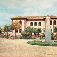 Postales: CUENCA - BELMONTE - PARQUE, ESTATUA Y GRUPO ESCOLAR FRAY LUIS LEON - Nº 9 - ED. JUNTA - 1963 - X. Lote 47725276