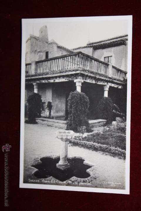 ANTIGUA FOTO POSTAL DE TOLEDO. CASA DEL GRECO, VISTA PARCIAL. FOTO G.H. ALSINA. SIN CIRCULAR (Postales - España - Castilla La Mancha Antigua (hasta 1939))