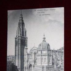 Postales: ANTIGUA POSTAL DE TOLEDO. LA CATEDRAL. FOTPIA. HAUSER Y MENET. CIRCULADA. Lote 48374175
