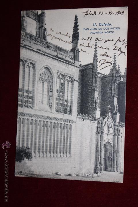 ANTIGUA POSTAL DE TOLEDO. SAN JUAN DE LOS REYES, FACHADA NORTE. FOTPIA. LACOSTE. CIRCULADA (Postales - España - Castilla La Mancha Antigua (hasta 1939))