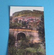 Postales: POSTAL RIO Y CARRETERA GENERAL TERUEL - CUENCA. CAÑETE ( CUENCA ). Lote 48904445