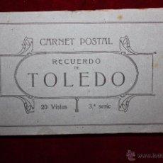 Postales: CARNET POSTAL DE TOLEDO. 3ª SERIE. VARIAS VISTAS. ED. GRAFOS. 20 TARJETAS. Lote 49171166