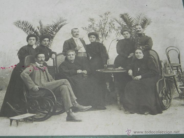 FOTOGRAFIA DE CAMPO DE CRIPTANA (CIUDAD REAL) 1908, POSIBLEMENTE EL ALCALDE CRIPTANA JUNTO A SU FAMI (Postales - España - Castilla La Mancha Antigua (hasta 1939))