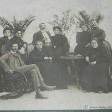 Postales: FOTOGRAFIA DE CAMPO DE CRIPTANA (CIUDAD REAL) 1908, POSIBLEMENTE EL ALCALDE CRIPTANA JUNTO A SU FAMI. Lote 49571516
