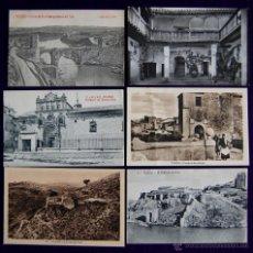 Postales: 12 POSTALES DE TOLEDO. DE 1915 A 1940. CASI TODAS ANIMADAS Y OTRA DE LA CASA DEL GRECO. Lote 49675823