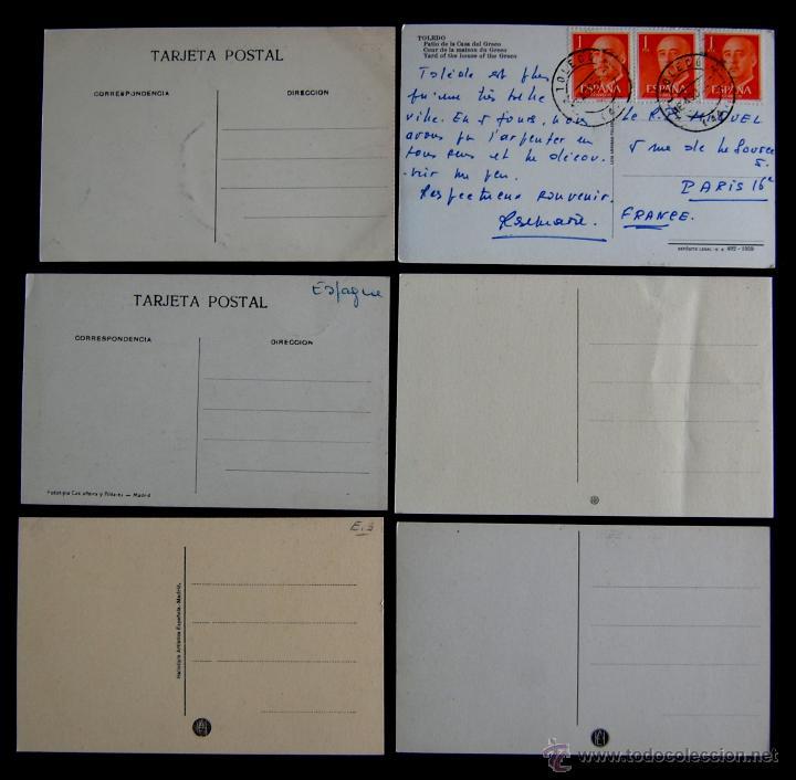 Postales: 12 POSTALES DE TOLEDO. DE 1915 A 1940. CASI TODAS ANIMADAS Y OTRA DE LA CASA DEL GRECO - Foto 2 - 49675823