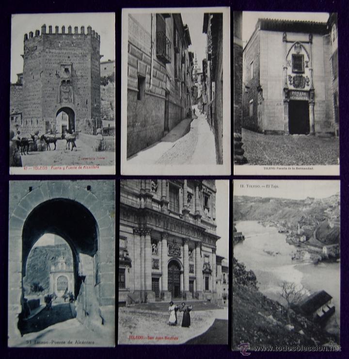 Postales: 12 POSTALES DE TOLEDO. DE 1915 A 1940. CASI TODAS ANIMADAS Y OTRA DE LA CASA DEL GRECO - Foto 3 - 49675823
